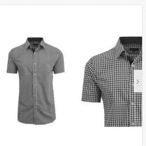 Men's Patterned Button Down Slim Fit Short Sleeve